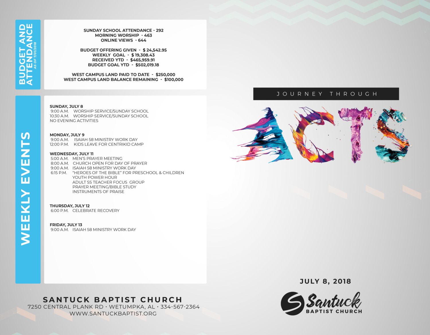 santuck baptist church of wetumpka al newsletters worship guides